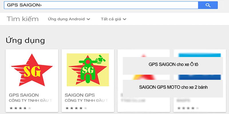 tìm kiếm cài ứng dụng định vị android