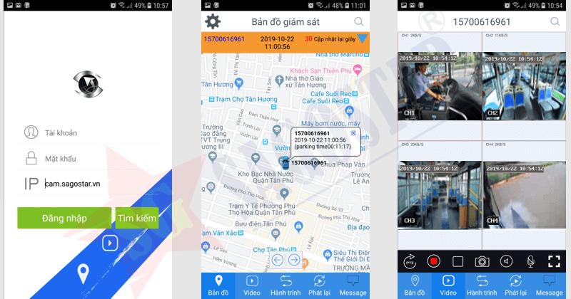 định vị camera hành trình app mobile