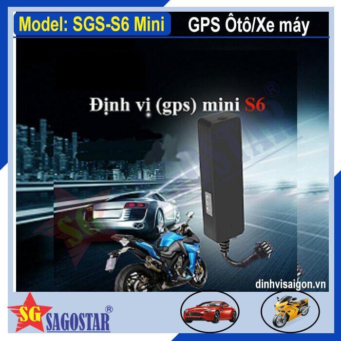 Lắp Định vị xe máy Mini S6