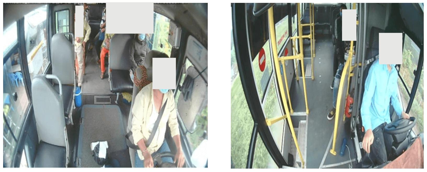 vị trí lắp đặt camera quan sát cửa lên xuống của xe, camera nghị định 10 BGT