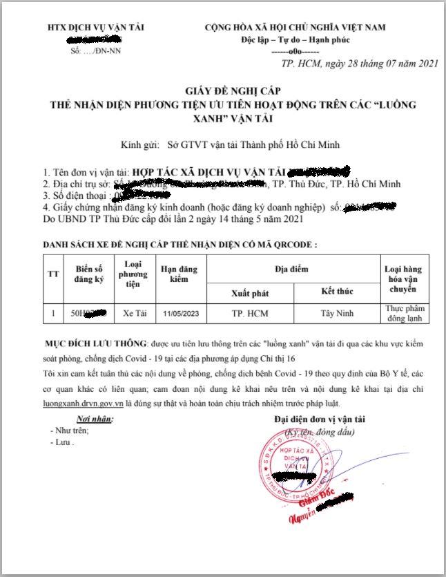 mẫu đơn đăng ký luong xanh